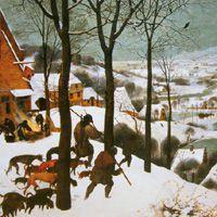 ピーテル・ブリューゲル  『雪中の狩人』