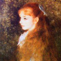 ルノワール 『イレーヌ・カーン・ダンヴェール嬢の肖像』