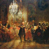 アドルフ・メンツェル『フリードリヒ大王のフルートコンサート』