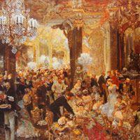 アドルフ・メンツェル『舞踏会の晩餐』