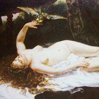 ギュスターヴ・クールベ 『女とオウム』