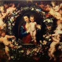 ルーベンス、ヤン・ブリューゲル 『花輪の聖母』