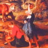 ルーベンス 『メイドと牛のいる風景、ラーケンの農場』