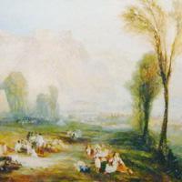 """ウィリアム・ターナー 『名誉の輝く石とマルソーの墓、バイロンの""""チャイルドハロルド""""から』"""